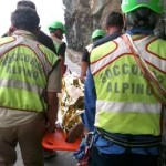 Firefighters provide relief to the victims of the landslide on the ''Via dell'Amore ''