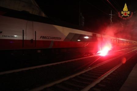treno incendio