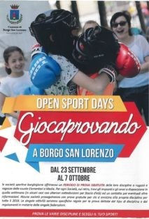 Prove gratuite per lo sport a Borgo san Lorenzo