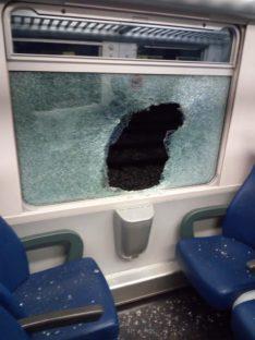Nuova atto vandalico ai danni di un treno alla stazione di Borgo