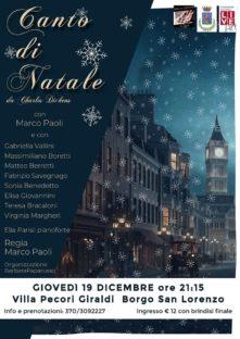Canto di Natale a Villa Pecori il 19 dicembre
