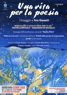 Onoreficenza del comune di Barberino al poeta Ivo Guasti