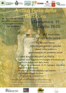 Antica festa della Battitura a Castagno d'Andrea il 19 luglio