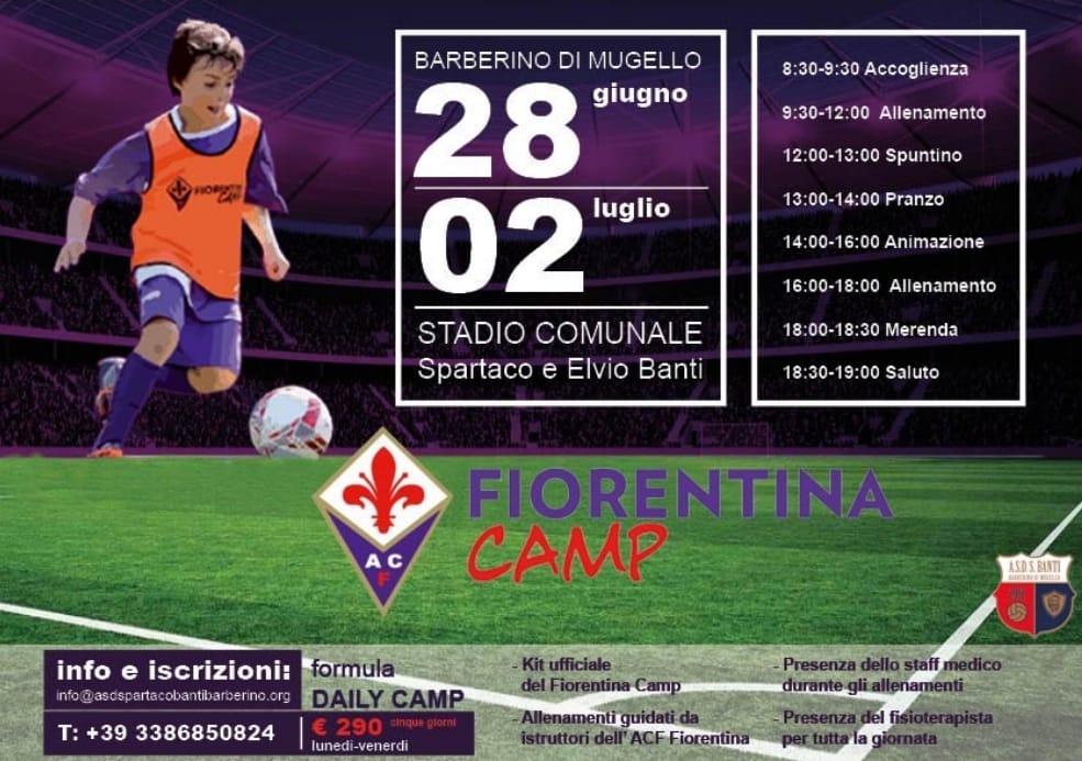 Fiorentina Camp a Barberino dal 28 giugno al 2 luglio | Radio Mugello