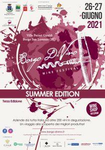 Borgo DiVino raddoppia con un'edizione estiva