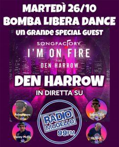 Ancora grandi ospiti a Bomba libera dance! Martedi 26 ottobre Den Harrow